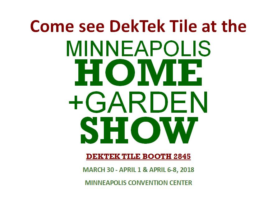 Minneapolis Home Garden Show Dektektile Precast Concrete Decking Material