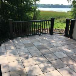 Oak Tile Deck Install