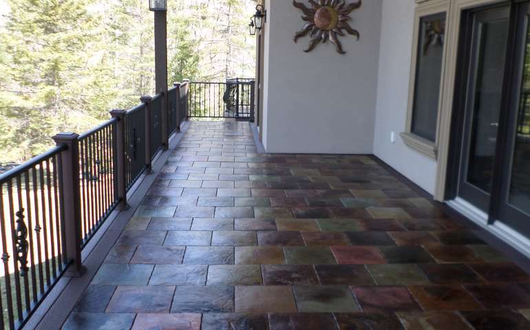 Tuscan Medley Samples - Beautiful Concrete Decking