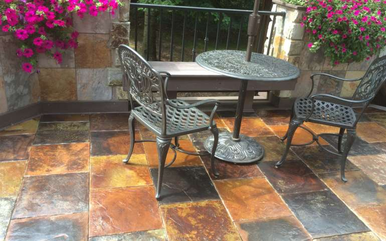 Tuscan Medley Samples - Beautiful Concrete Tile Decking